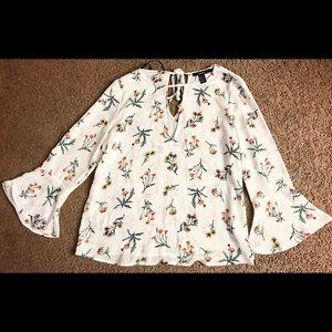 Forever 21 flower blouse